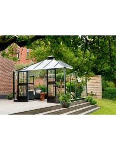 Serre Oasis JULIANA+verre trempé sécurit - Naturel ou anthracite de 13.5 m²