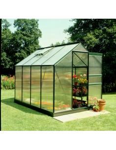 Serre de jardin Popular 5 m² laquée verte - Polycarbonate de 4 mm