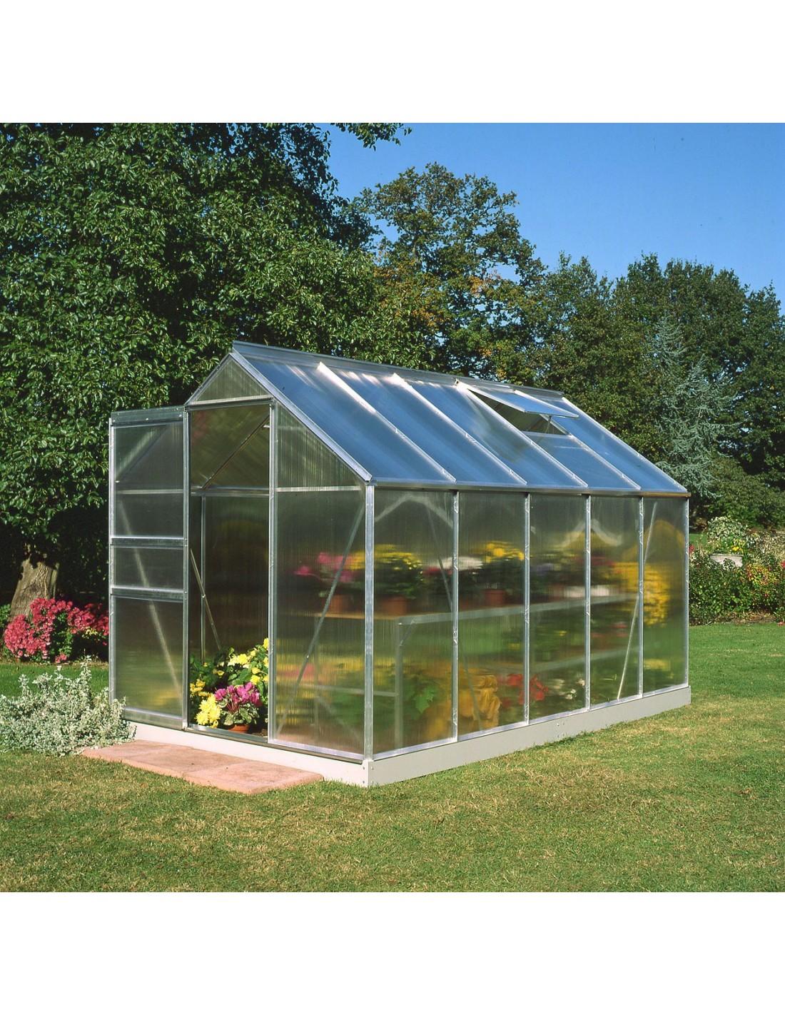 Serre de jardin popular 6 2 m polycarbonate de 4 mm - Polycarbonate serre de jardin ...