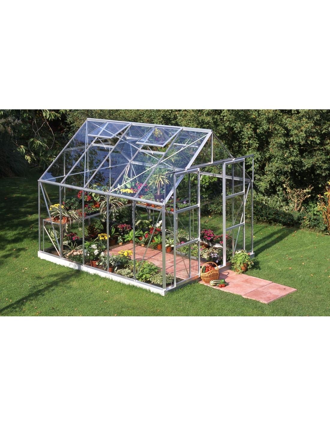 Serre de jardin magnum 8 3 m verre tremp s curit de 3 mm - Accessoires serre de jardin ...