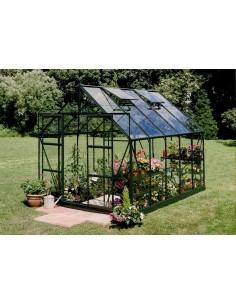 Serre de jardin Magnum 8,3 m² laquée verte - Verre trempé sécurit de 3 mm
