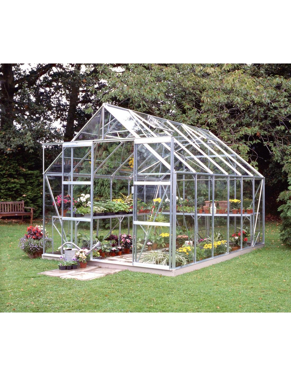 Serre de jardin magnum 9 9 m verre horticole de 3 mm - Serre de jardin en verre horticole ...