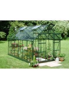 Serre de jardin Magnum 9,9 m² laquée verte - Verre trempé sécurit de 3 mm