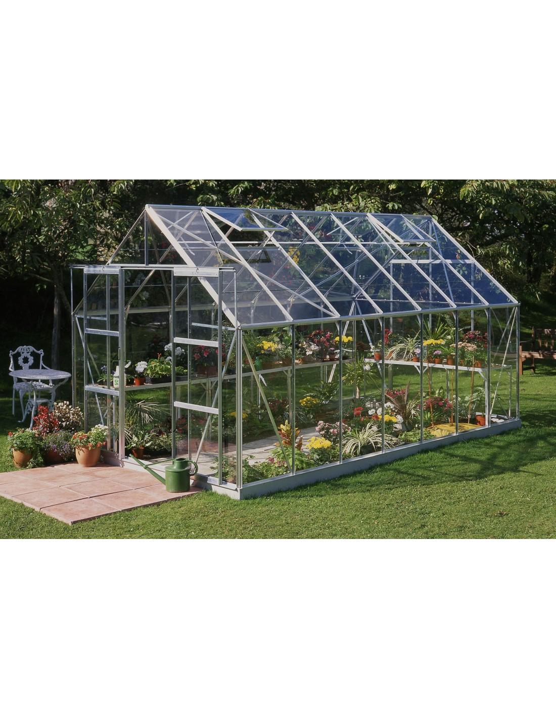 serre de jardin magnum 11 5 m verre horticole de 3 mm. Black Bedroom Furniture Sets. Home Design Ideas
