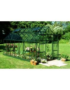 Serre de jardin Magnum 11,5 m² laquée verte - Verre trempé sécurit de 3 mm