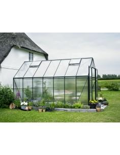 Serre de jardin Magnum 11,5 m² laquée verte - Polycarbonate de 6 mm