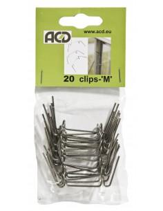 Clips de verre M ACD pour tous types de serres en verre