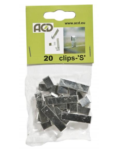 Clips de verre S ACD pour tous types de serre en verre