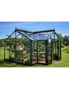 Orangerie 15.2 m² en verre trempé sécurit+embase Juliana - Coloris au choix