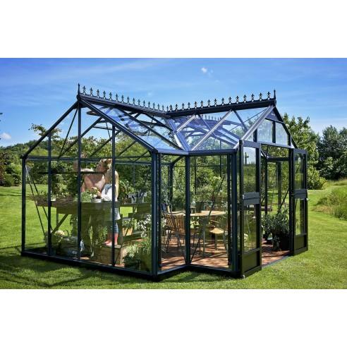 orangerie juliana 15 2 m en verre tremp embase coloris au choix. Black Bedroom Furniture Sets. Home Design Ideas