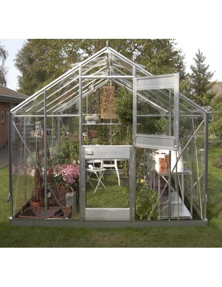 Serre Junior JULIANA+verre horticole - Naturel ou anthracite de 9.9 ou 12.1 m²