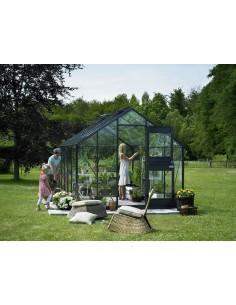 Serre Junior JULIANA+verre horticole - Naturel ou anthracite de 8.3 à 12.1 m²