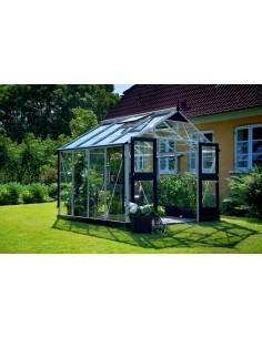 Serre Premium JULIANA+verre horticole - Naturel ou anthracite de 8.8 à 13 m²