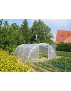 Abri légumes de 48 m² et PVC armé 300 microns