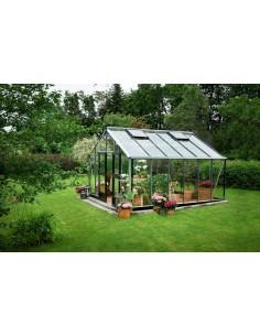 Serre Gardener JULIANA+verre horticole - Naturel ou anthracite de 16.2 à 21.4 m²