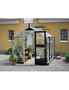 Serre Compact JULIANA+verre horticole - Naturel ou anthracite de 5 à 8.2 m²