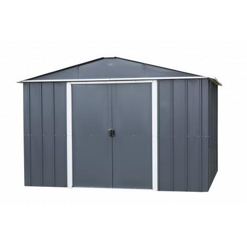 Abri de jardin métal 12 m² au choix Anthracite - Trigano Jardin