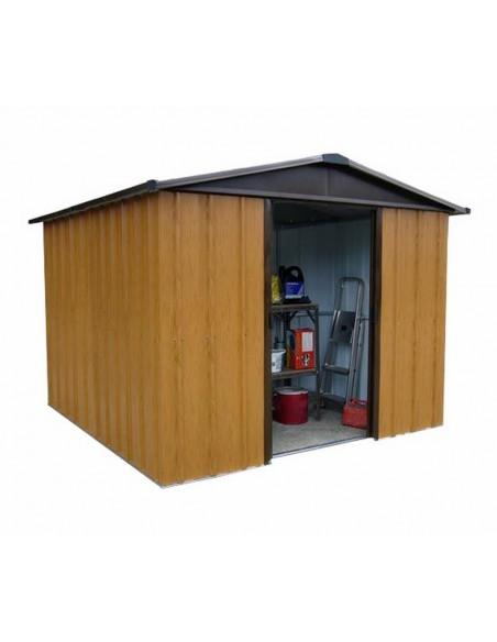 Abri de jardin métal 7.2 m² Aspect bois au choix - Trigano Jardin