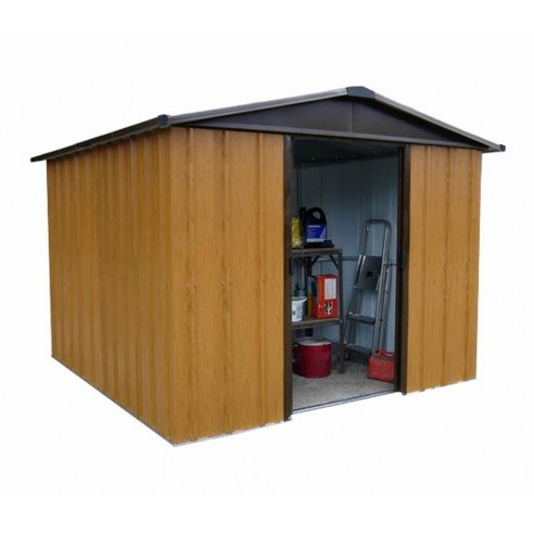 Abri de jardin métal 12 m² Aspect bois au choix - Trigano Jardin