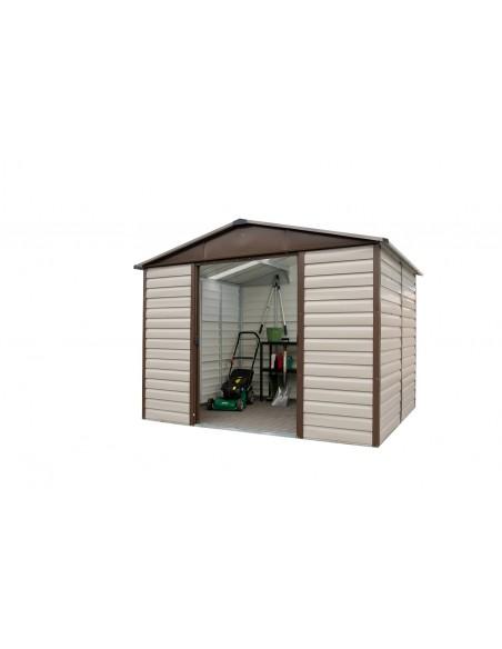 Abri de jardin Taupe métal 11.4 m² au choix - Trigano