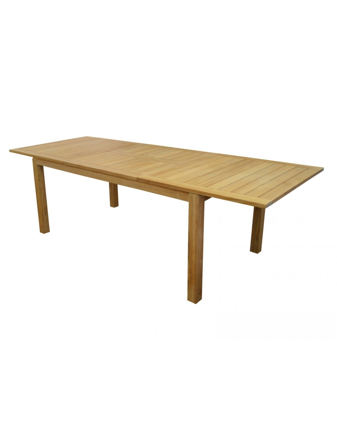 Table de jardin extensible madagascar en teck avec allonge - Table de jardin extensible ...
