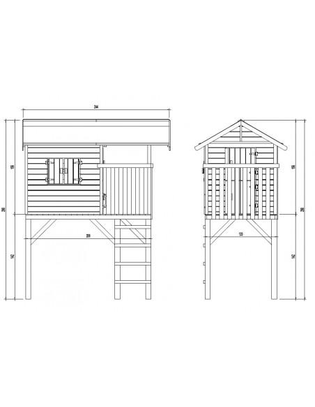 Maisonnette Wistler Park+toboggan 2.90 m