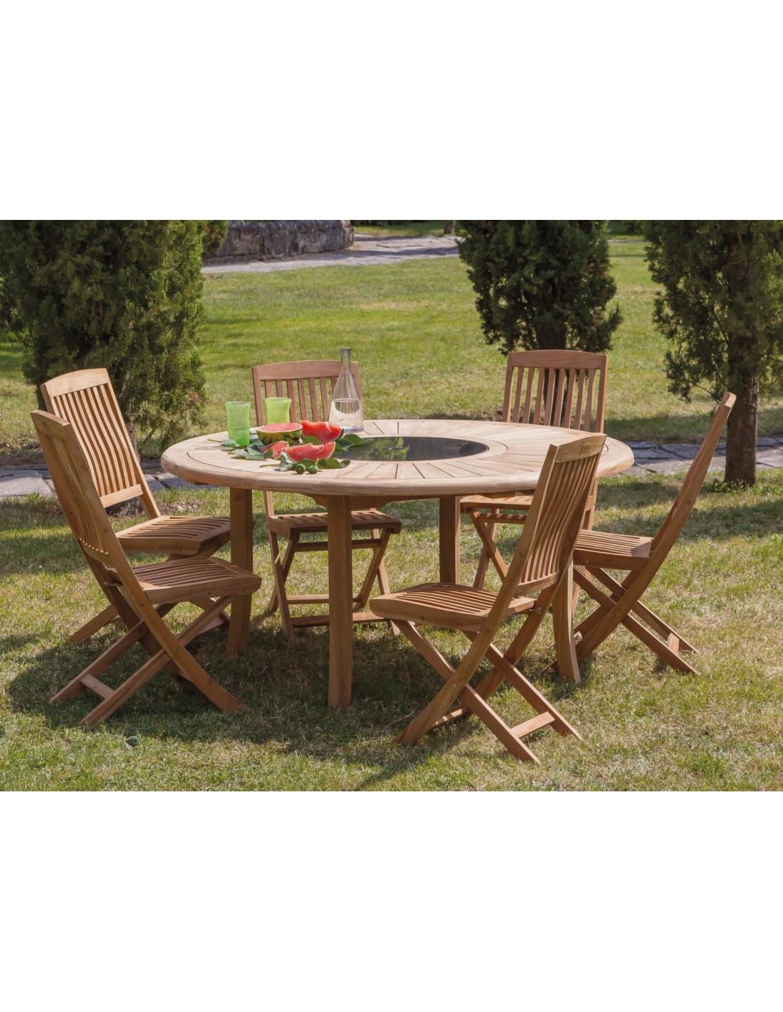 Chaise pliante Rias en bois de teck - Proloisirs