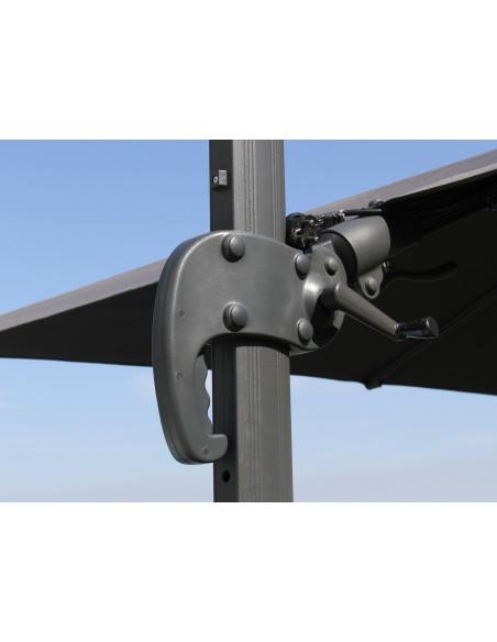 Parasol déporté 3x3 - orientable et rotatif en aluminium - Proloisirs