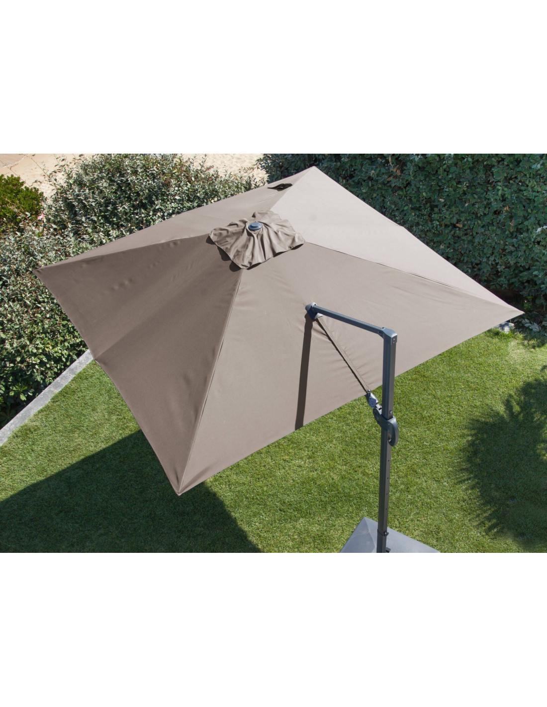 parasol d port 3x3 m orientable et rotatif en aluminium. Black Bedroom Furniture Sets. Home Design Ideas
