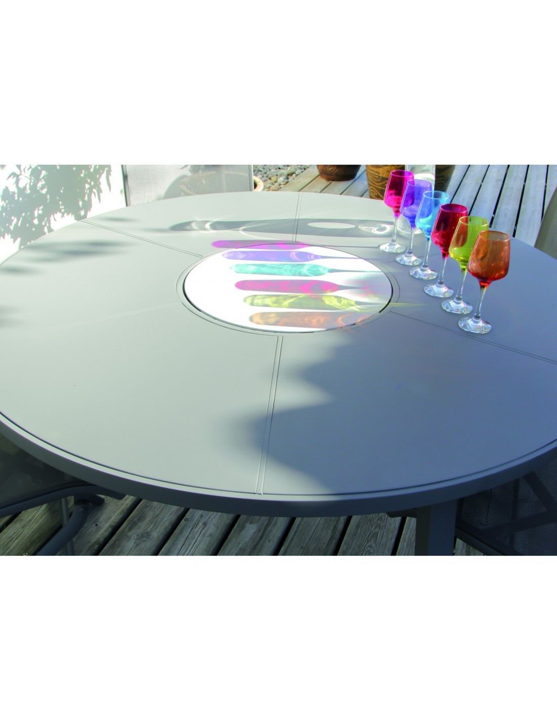 Stunning Table De Jardin Ronde Plateau Tournant Images Awesome Interior Home Satellite