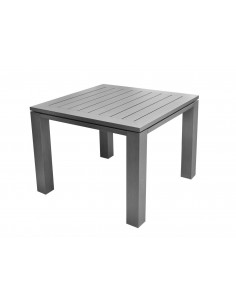 Table de jardin carrée 78x78 cm Latino aluminium brush - Proloisirs