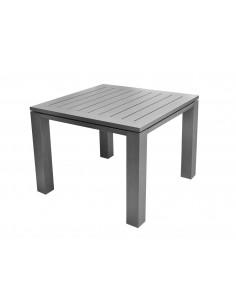 Table Latino carrée 78 x 78 cm aluminium brush ice - Proloisirs