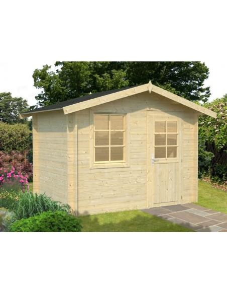 Abri de jardin Klara 5 m² en bois massif 28 mm