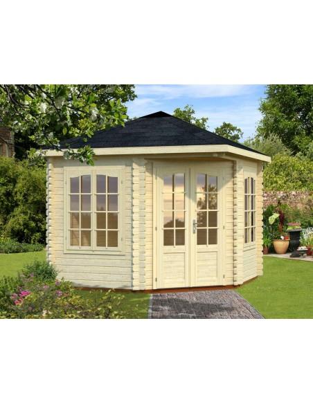 Tonnelle de jardin Mélanie 7.8 m² avec plancher en bois massif 44 mm