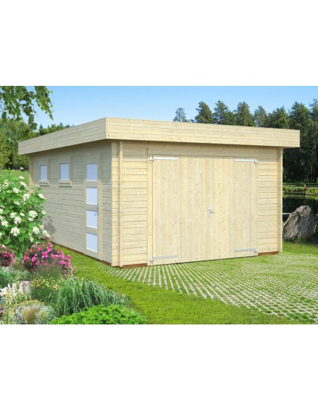 Garage Rasmus 19.8 m² au choix - Bois massif 44 mm