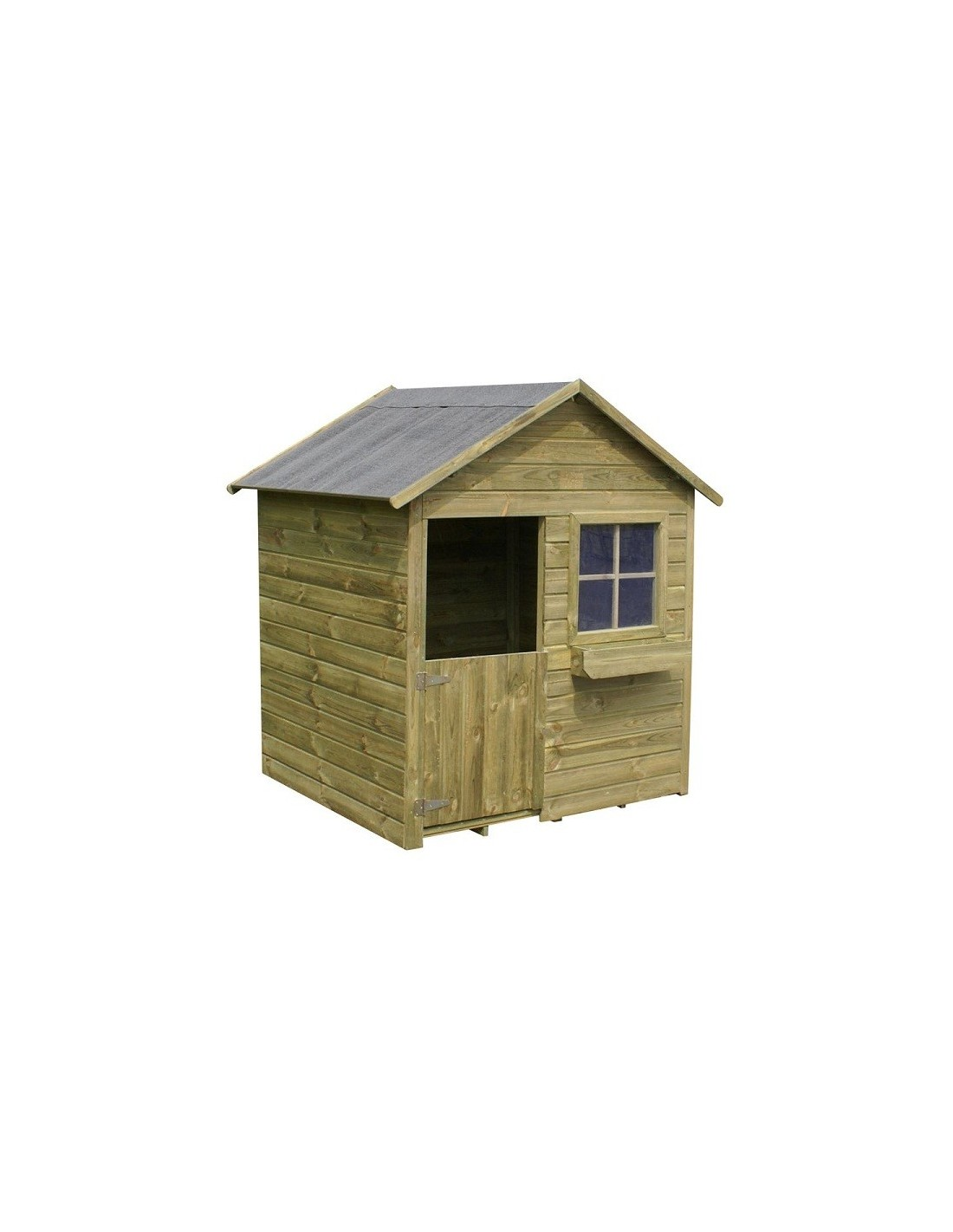 Maisonnette coccinelle en bois pour enfants plancher Coccinelle decoration exterieure