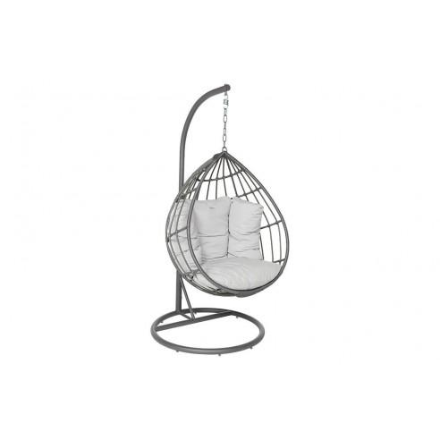 Loveuse suspendue Merengue - Acier et résine grise - Hespéride
