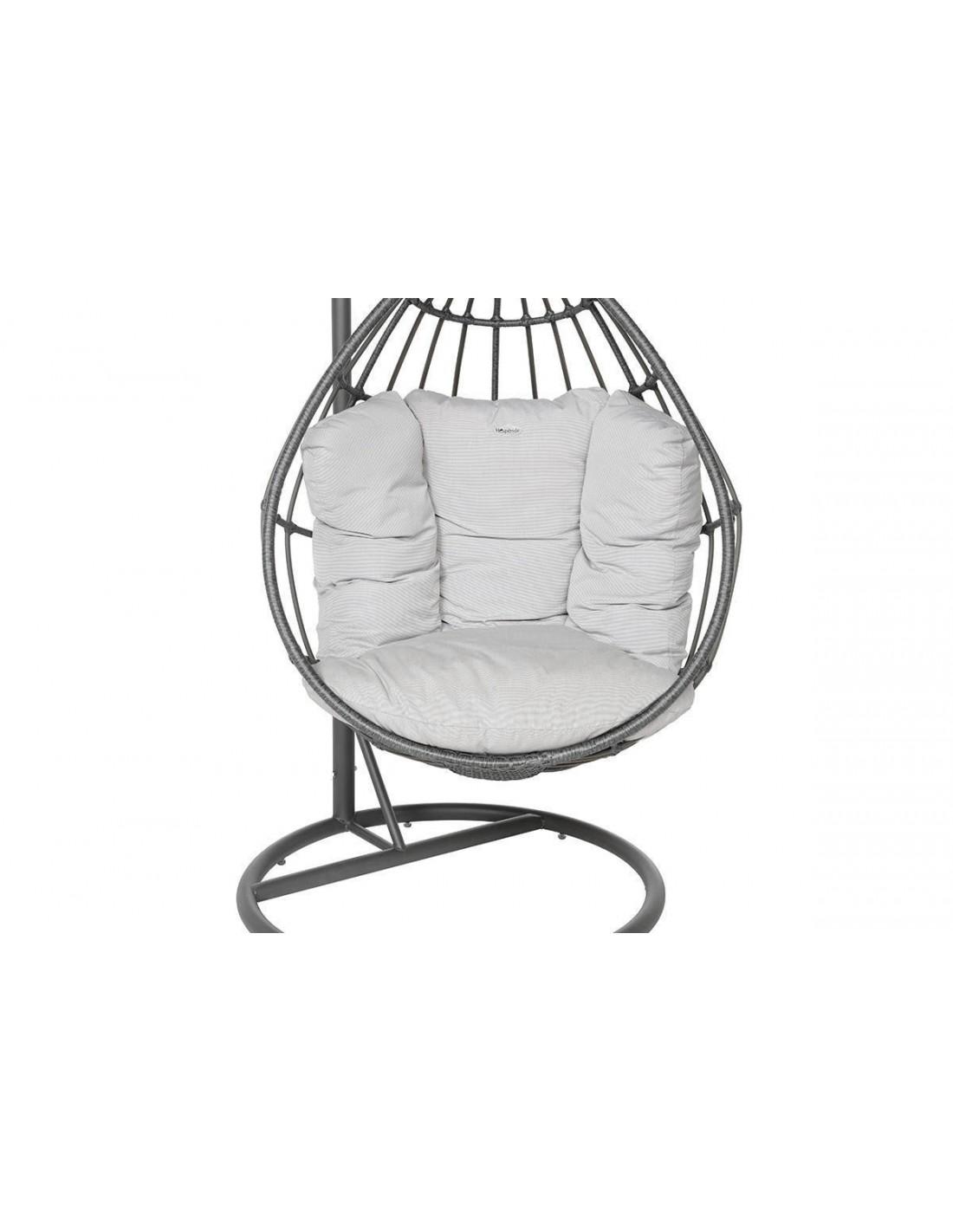 fauteuil suspendu merengue acier et r sine grise hesp ride. Black Bedroom Furniture Sets. Home Design Ideas