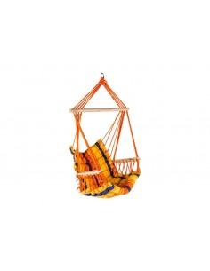 Fauteuil suspendu Antalya 90*43 cm en polyester et bois - Hespéride