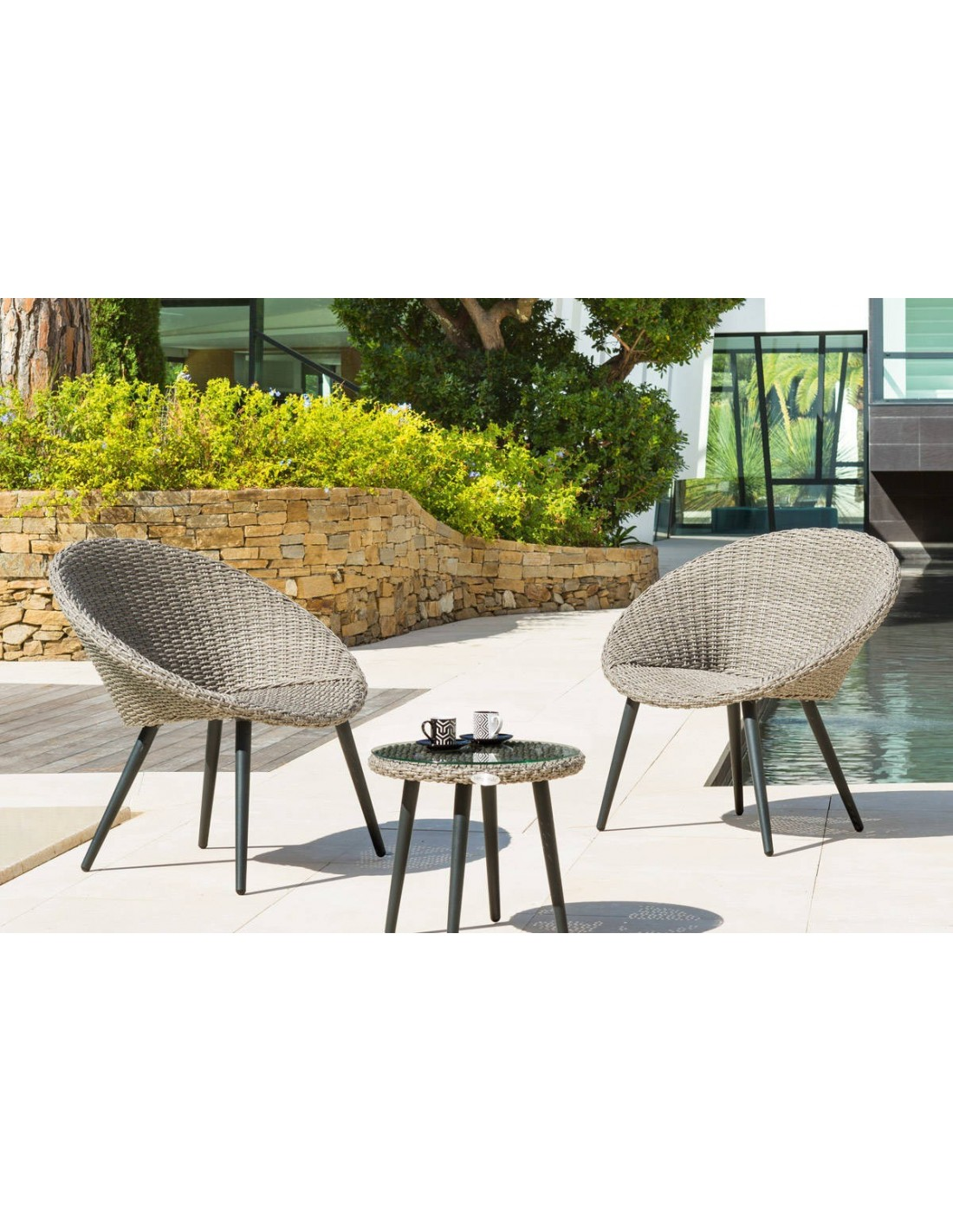 salon de jardin duo canberra 2 fauteuils et table basse hesp ride. Black Bedroom Furniture Sets. Home Design Ideas