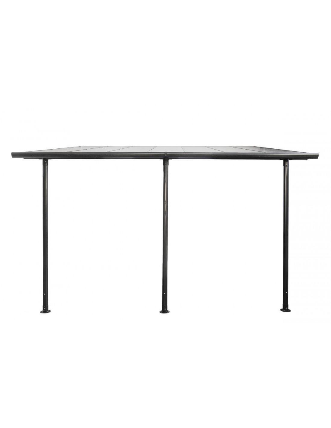 pergola adoss belize 4x3 m en aluminium et polycarbonate hesperide. Black Bedroom Furniture Sets. Home Design Ideas