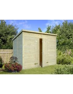 Abri bois Leif 4.6 m² avec plancher - Bois massif 16 mm