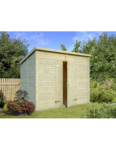 Abri bois Leif 4.6 m² avec plancher en bois massif 16 mm