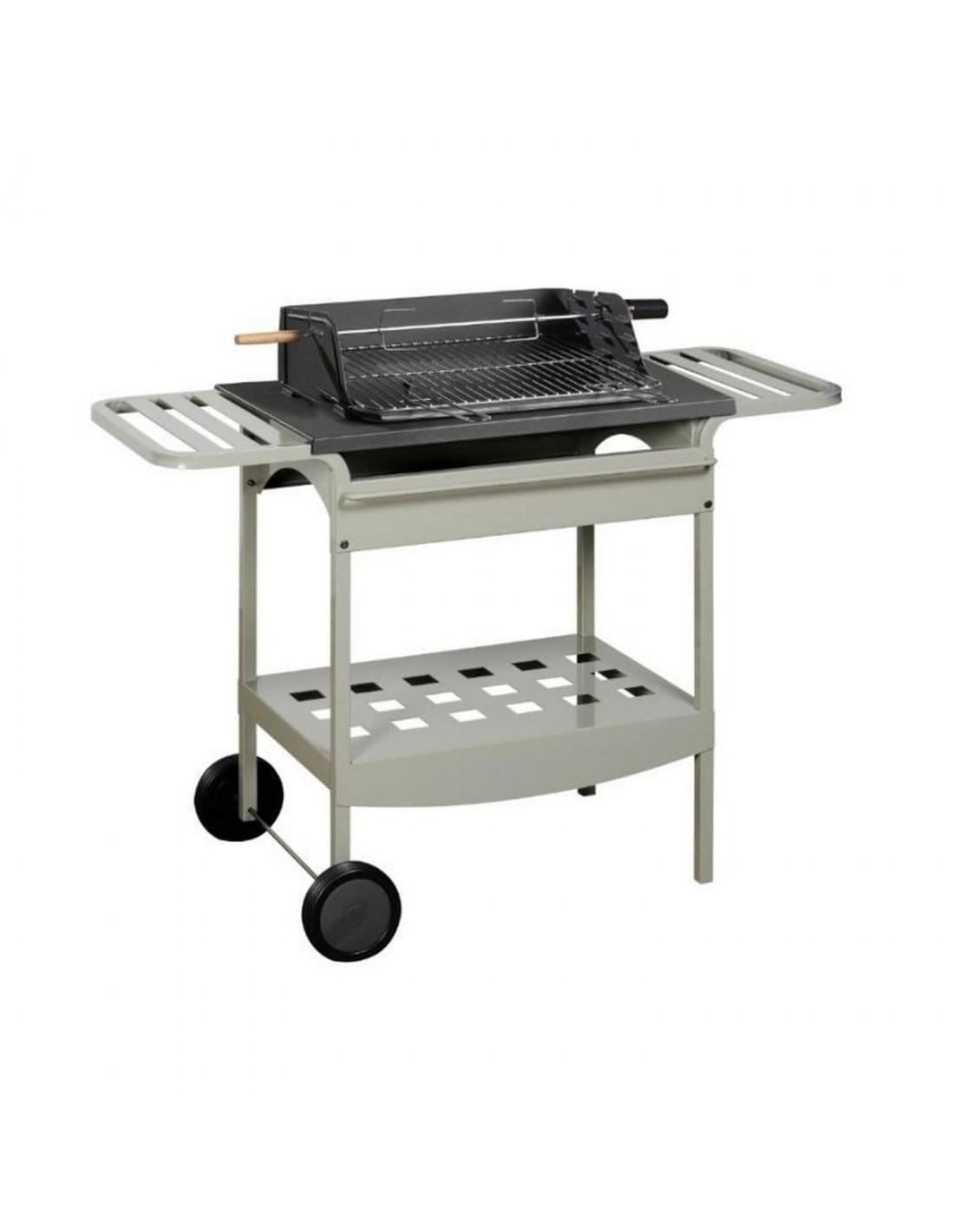 barbecue fonte madisson gril bois et charbon chariot. Black Bedroom Furniture Sets. Home Design Ideas
