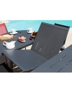 Table Brasa extensible ronde en aluminium - Proloisirs