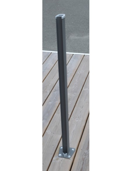 Brise vent extensible 6 mètres - coloris gris anthracite - Proloisirs