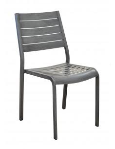 Chaise de jardin Flower aluminium brush - Proloisirs