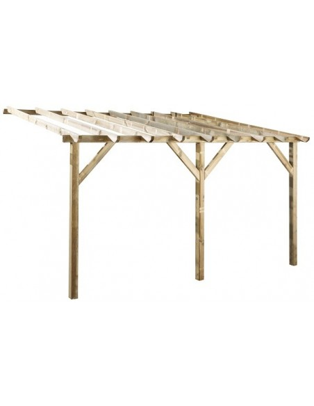 Pergola Etreta 3x4xH2.5 m en bois traité autoclave