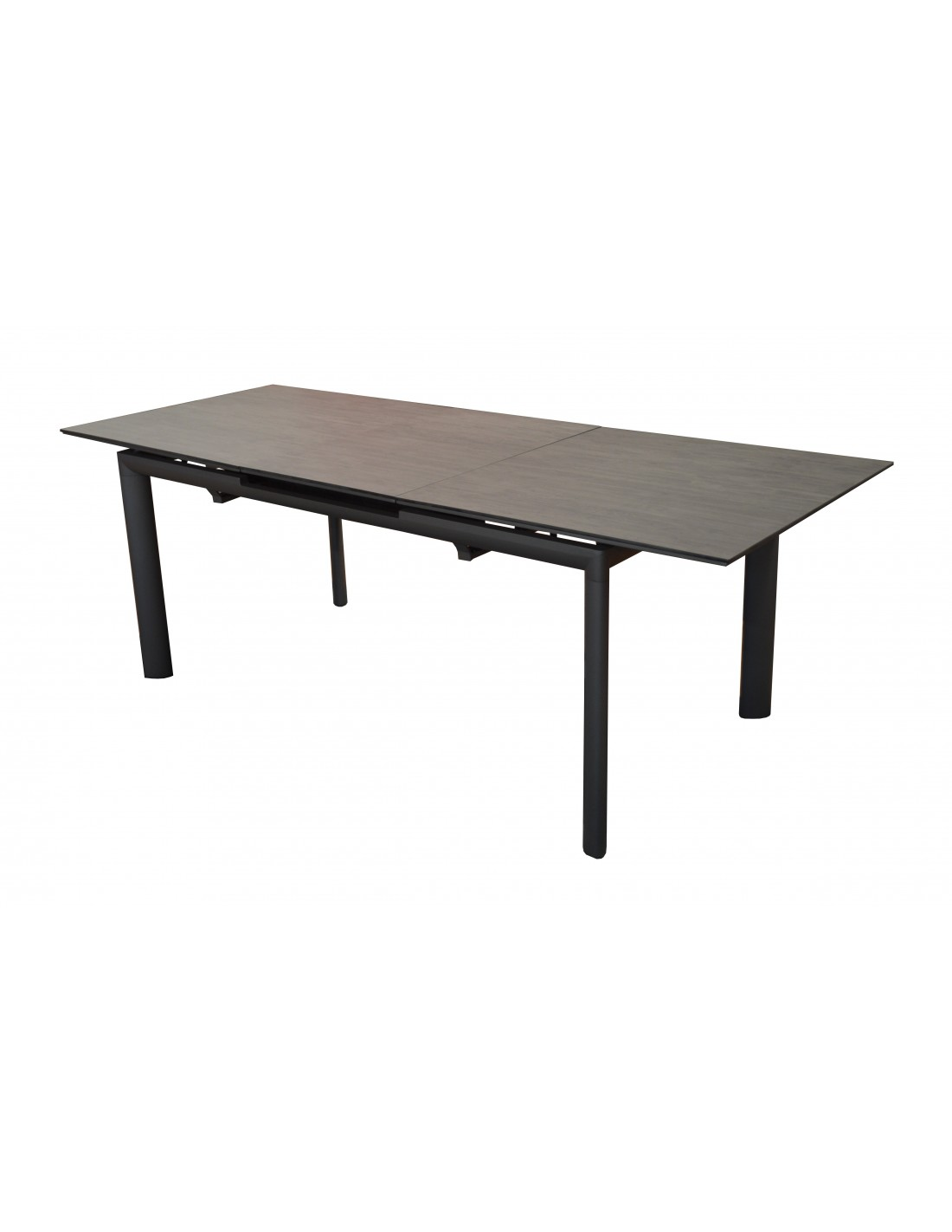 table de jardin extensible miami en aluminium et hpl. Black Bedroom Furniture Sets. Home Design Ideas