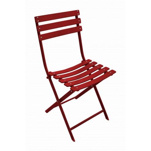 Chaise de jardin pliante Nonza Rouge  - Proloisirs